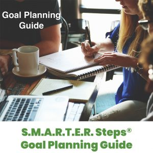 Cover of SMARTER Steps SMARTER IEP Goal Planning Guide with students and instructors collaborating on an assignment