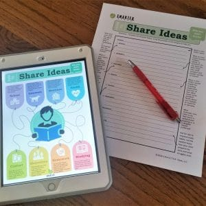 SMARTER Steps Parent Communication Packet shown digitally on a smart device and in hard copy