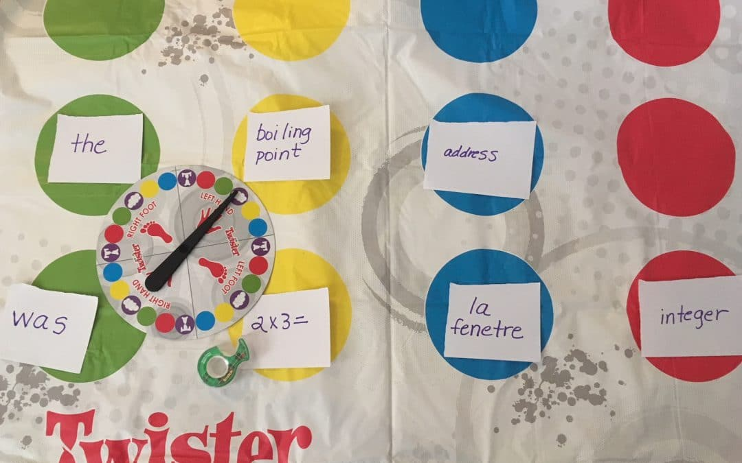 Using a Twister® Game for IEP Goal Activities